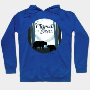 Mama Bear Baby Cub in the Mountains Hoodie