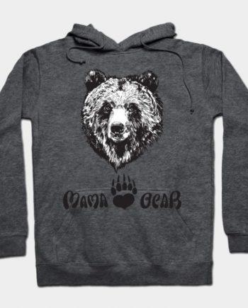 Mama Bear Autumn Fashion Dark Grey Hoodie