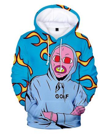 GOLF x Tyler The Creator Unisex Pullover Hoodie ( Blue )
