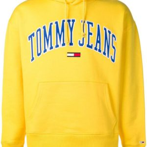 Yellow Tommy Jeans Print Hoodie