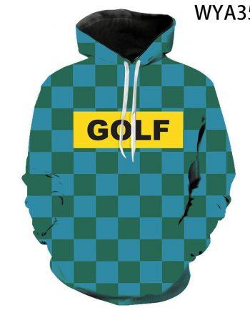 Tyler The Creator Check Pattern Streetwear Pullover Hoodie