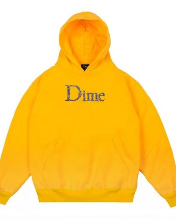 Yellow Dime Scribble Classic Logo Hoodie