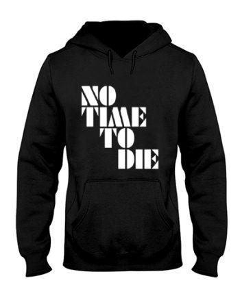 James Bond No Time To Die Printed Black Hoodie