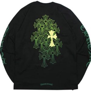 Chrome Hearts Cemetery Unisex Cotton Sweatshirt ( Black )