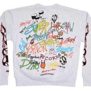 Chrome Hearts Matty Boy Brain Crewneck Sweatshirt ( White )