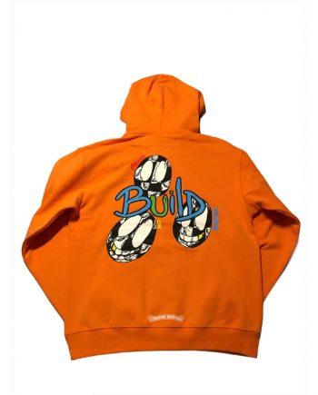 Chrome Hearts Matty Boy Link & Build Pullover Hoodie ( Orange )