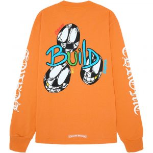 Chrome Hearts Matty Boy Link & Build Unisex Sweatshirt ( Orange )