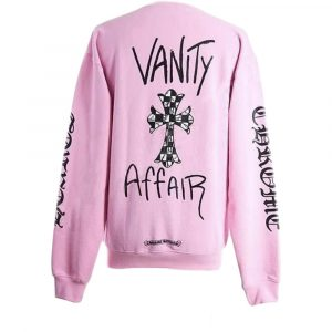 Chrome Hearts Matty Boy Vanity Affair Crewneck Sweatshirt ( Pink )