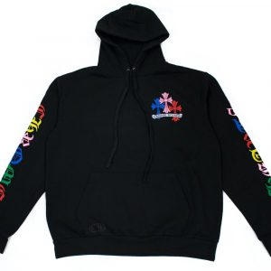 Chrome Hearts Multi Color Cross Cemetery Pullover Hoodie ( Black )