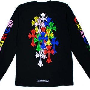 Chrome Hearts Multi Color Cross Cemetery Sweatshirt ( Black )