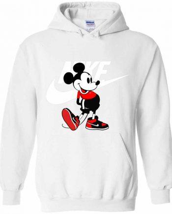 Nike Printed Mickey Mouse Fleece Hoodie (White)
