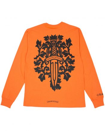 Chrome Hearts Vine Dagger Sweatshirt - Orange (Back)
