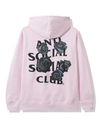 Anti Social Social Club Bat Emoji Hoodie- Pink Back
