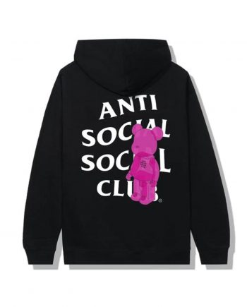 Anti Social Social Club Bearbrick Hoodie - Black (Back)
