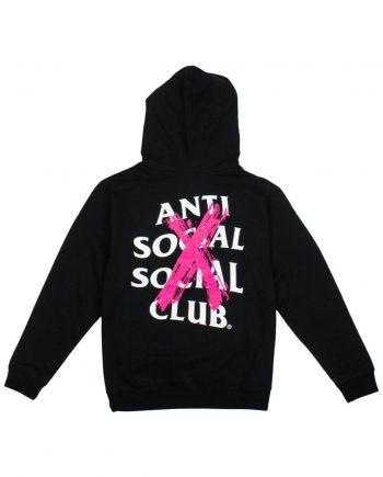 Anti Social Social Club Cancelled Hoodie- Black (Back)