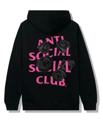Anti Social Social Club Corn Cheese Hoodie- Black (Back)