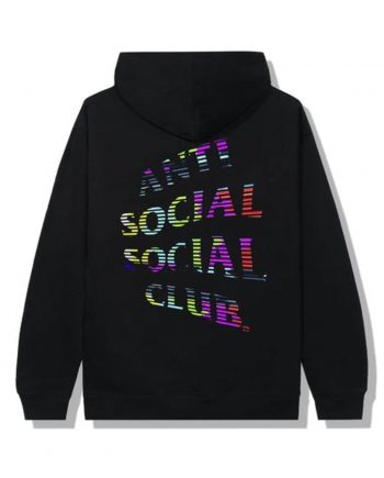 Anti Social Social Club Fuzzy Connection Hoodie- Black (Back)
