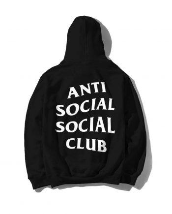 Anti Social Social Club Mind Games Hoodie (FW19)- Black (Back)