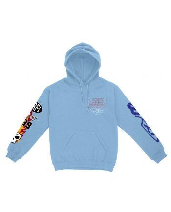 Juice WRLD DR4L 999 Hoodie - Blue (Front)