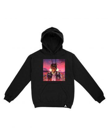 Juice WRLD Legends Never Die Album Hoodie - Black (Front)