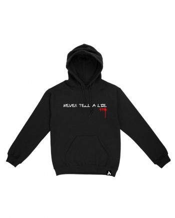 Juice WRLD Never Tell A Lie Hoodie - Black (Front)